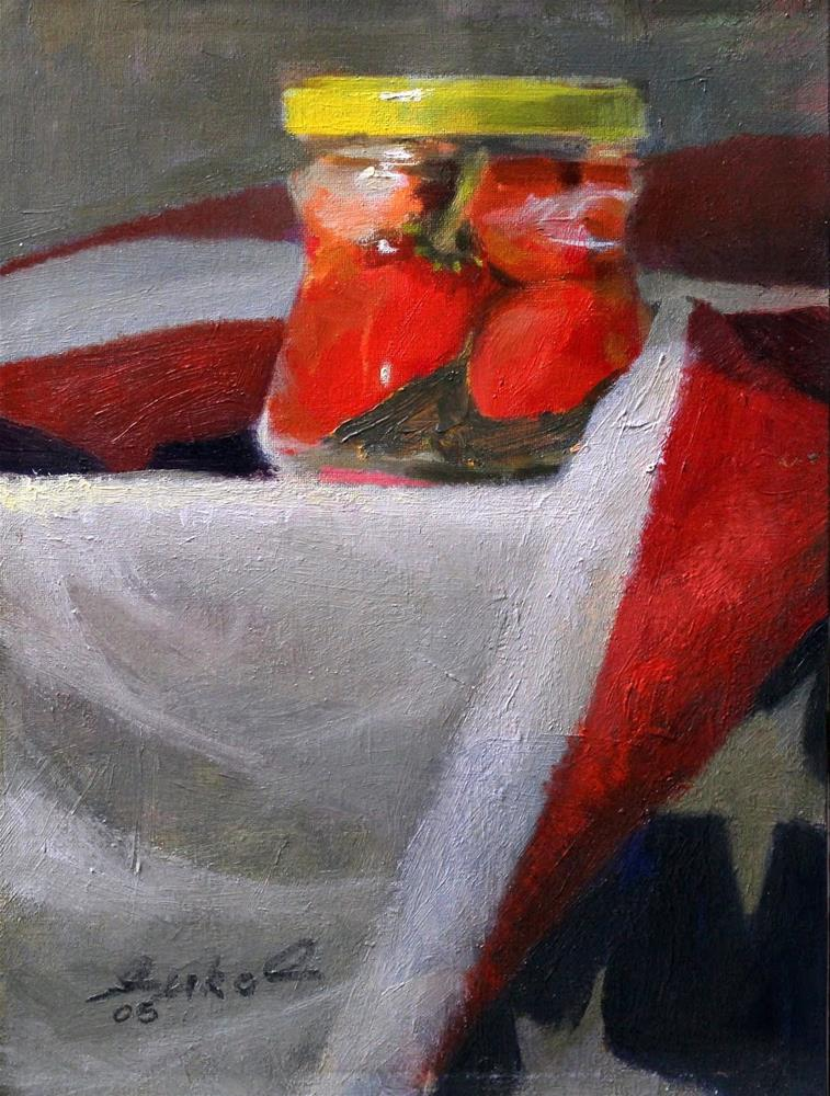 """Mom's Peppers"" original fine art by Ron Ferkol"