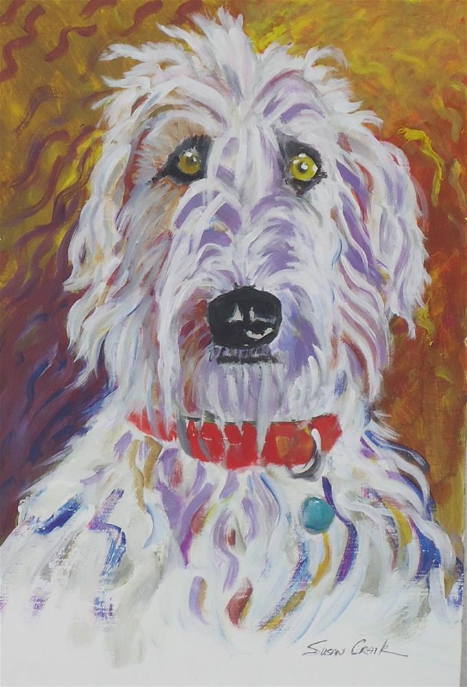"""Russian Wolfhound"" original fine art by Susan Craik"