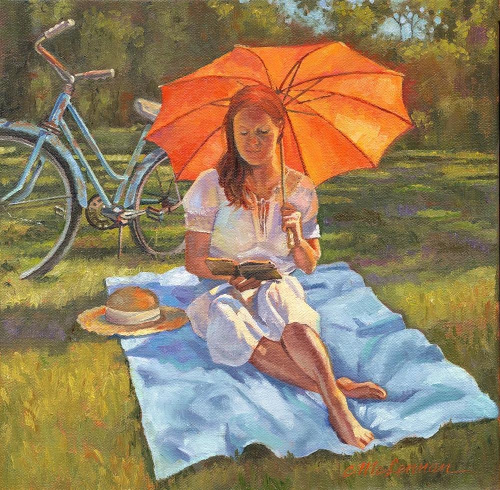 """Summer Read"" original fine art by Connie McLennan"