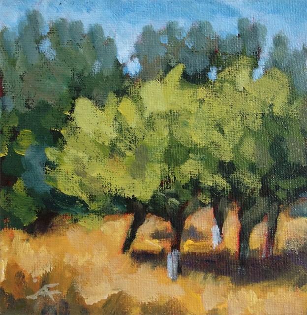 """Fruit Trees (update)"" original fine art by J. Farnsworth"