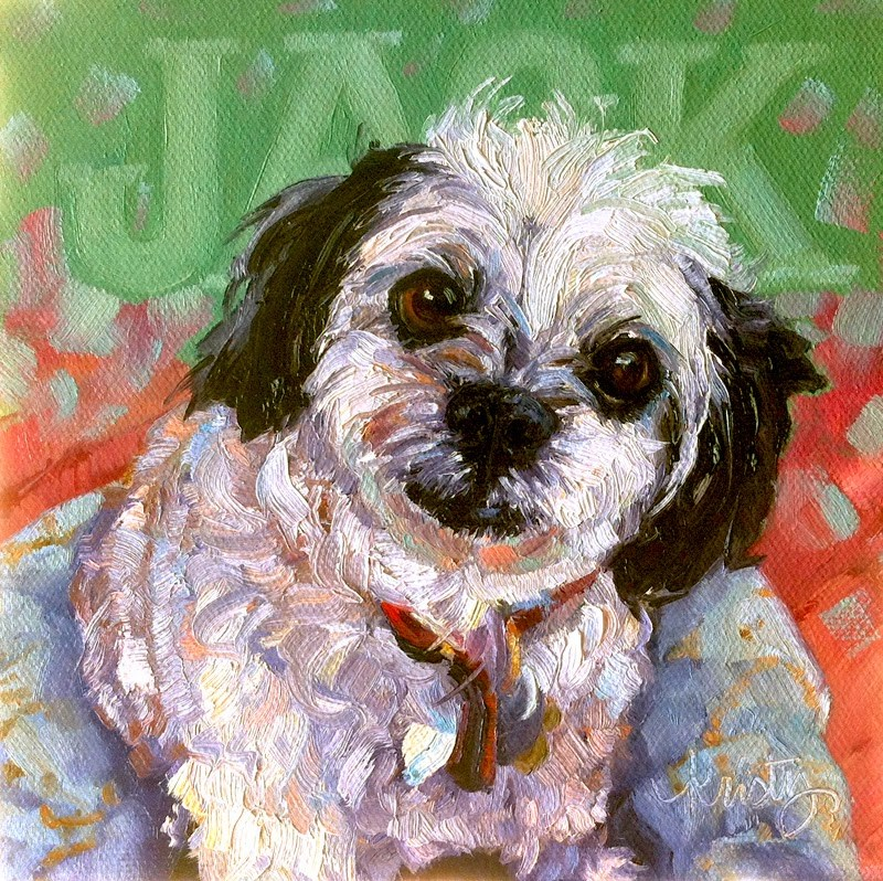 """JACK"" original fine art by Kristy Tracy"