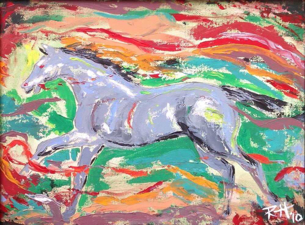 """""""Running Free"""" original fine art by Rachel  Holland"""