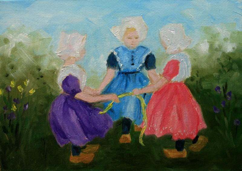 """Ribbon Game"" original fine art by Jean Nelson"