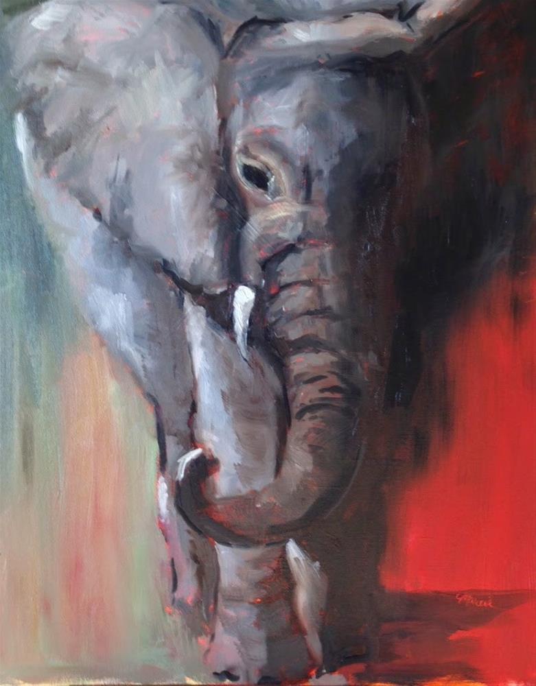"""An Elephant Named Bama"" original fine art by Marcia Hodges"