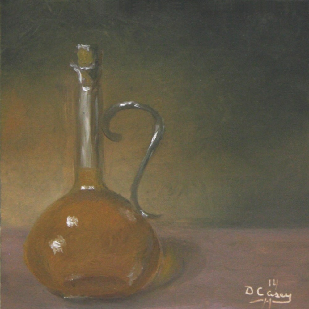 """""""Kitchen Painting - Olive Oil 001"""" original fine art by Dave Casey"""