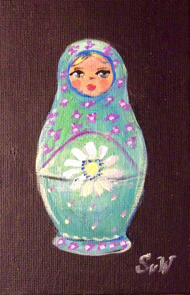"""Babushka doll painting"" original fine art by Sonia von Walter"