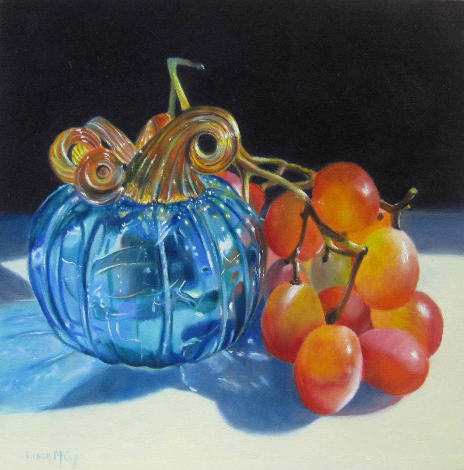 """Glass Act  Oil Painting by Linda McCoy"" original fine art by Linda McCoy"