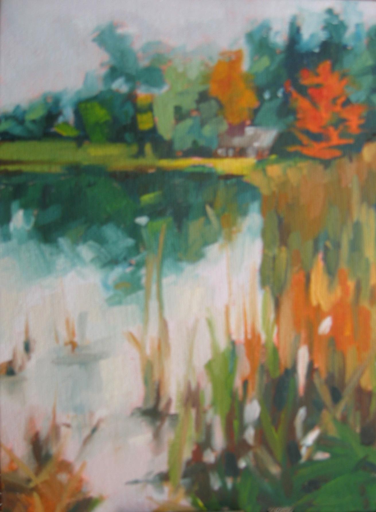 """""""The Sky is Falling"""" original fine art by Nancy Parsons"""