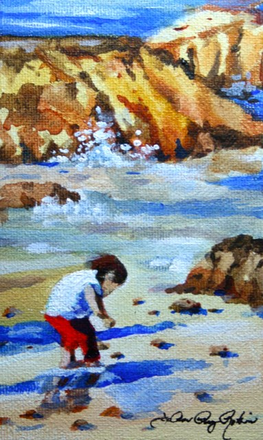 """Treasure Hunt"" original fine art by JoAnne Perez Robinson"