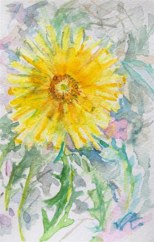 """""""Dandelion"""" original fine art by Jean Krueger"""