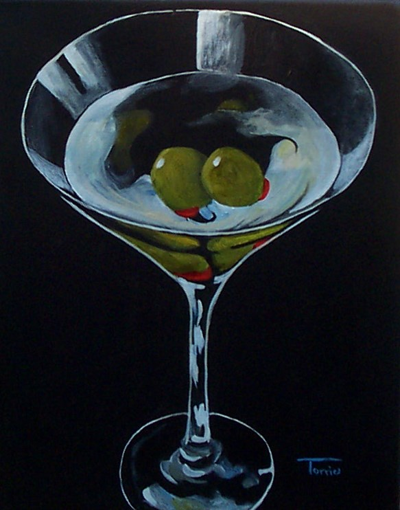"""""""Two Olive Martini"""" original fine art by Torrie Smiley"""