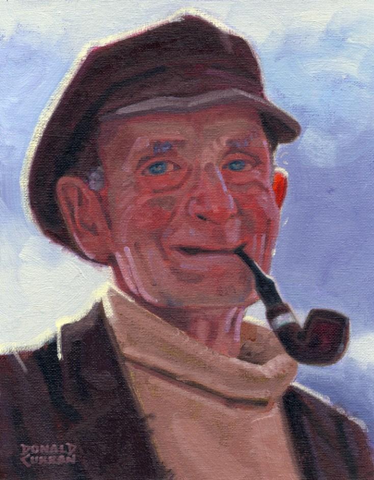 """A Happy Soul"" original fine art by Donald Curran"