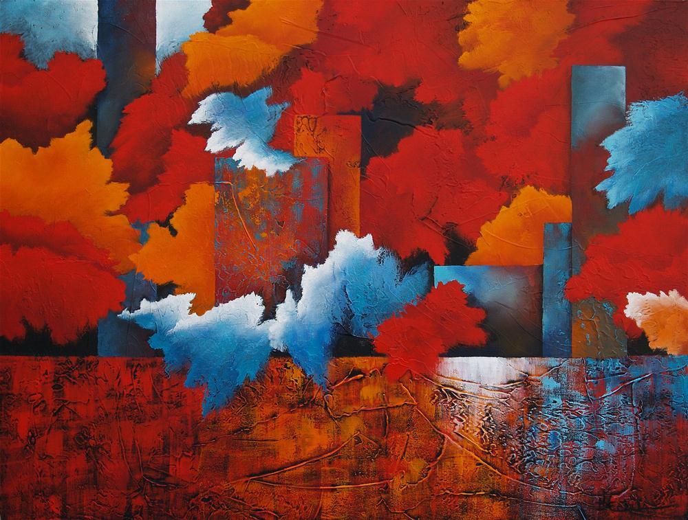 """Urban Nights"" original fine art by Nancy Eckels"
