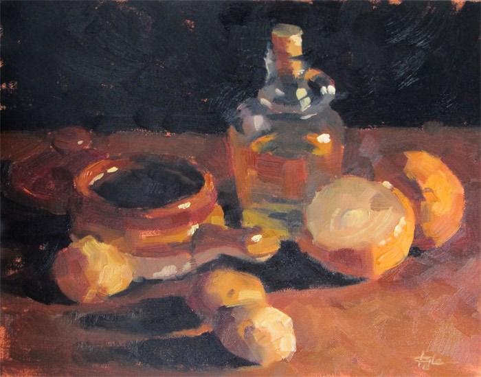 """Potatoes and Onions"" original fine art by Katia Kyte"