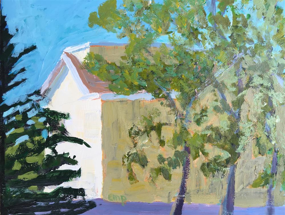 """Yellow House"" original fine art by Christine Parker"