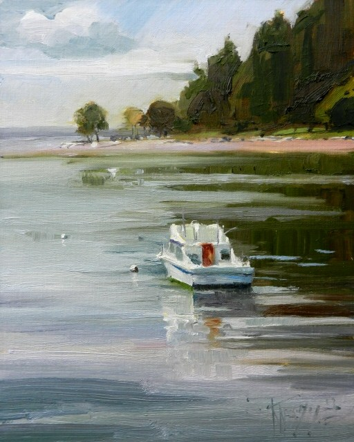 """""""At Rest  marine oil painting by Robin Weiss"""" original fine art by Robin Weiss"""