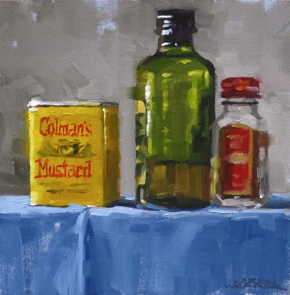 """""""Coleman's Mustard"""" original fine art by Karen Werner"""
