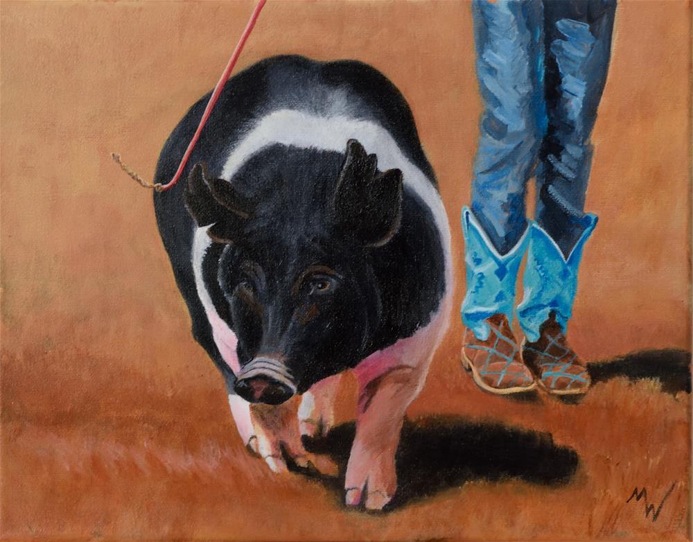 """""""Fancy Boots"""" original fine art by Michelle Wolfe"""