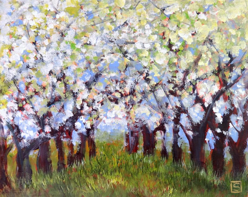 """6042 - The Old Apple Orchard"" original fine art by Sea Dean"