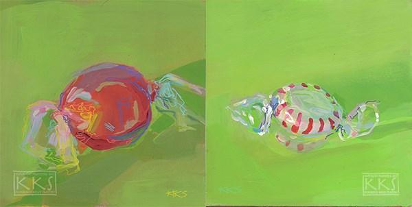 """Truffle and Peppermint"" original fine art by Kimberly Santini"