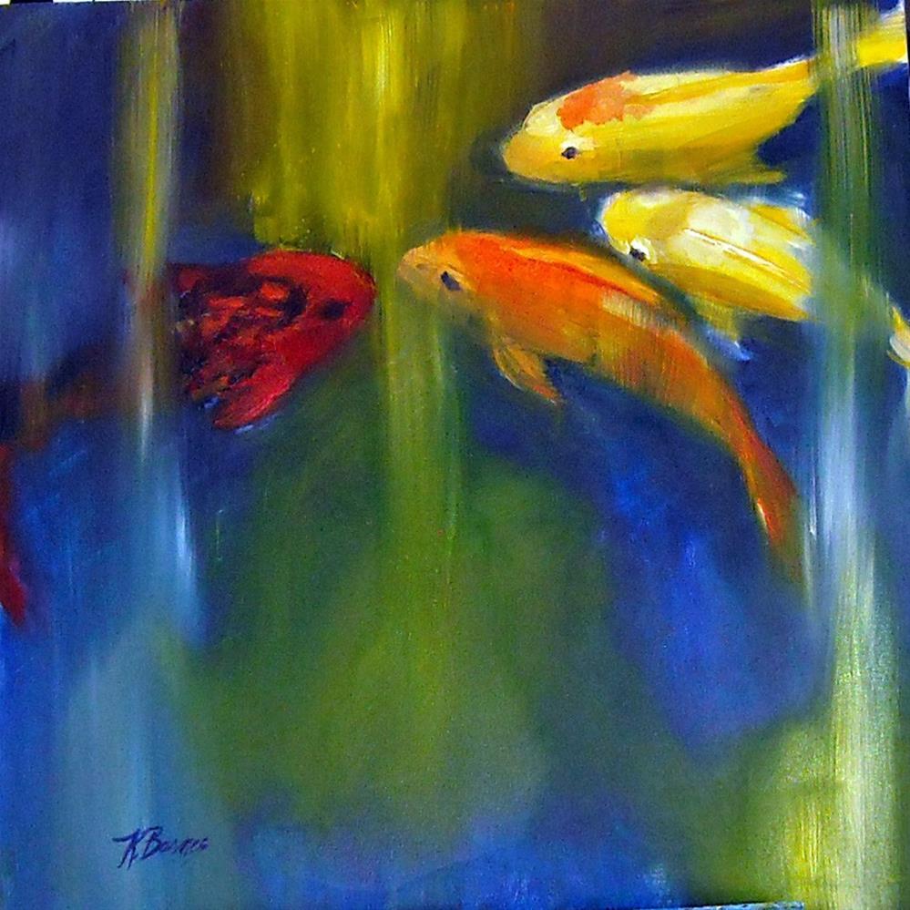"""Conversations in Koi"" original fine art by Kathleen Barnes"