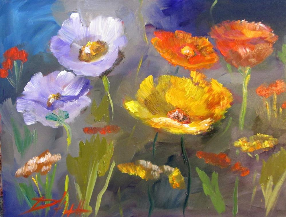 """""""Field of Poppies"""" original fine art by Delilah Smith"""
