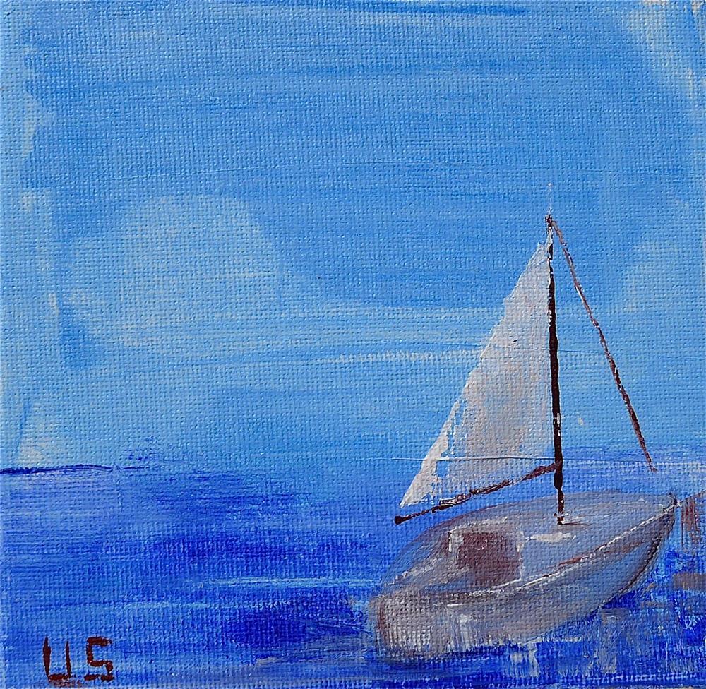 """Sailingboat"" original fine art by Ulrike Schmidt"