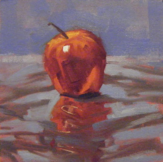 """APPLEDAZZLE"" original fine art by Helen Cooper"
