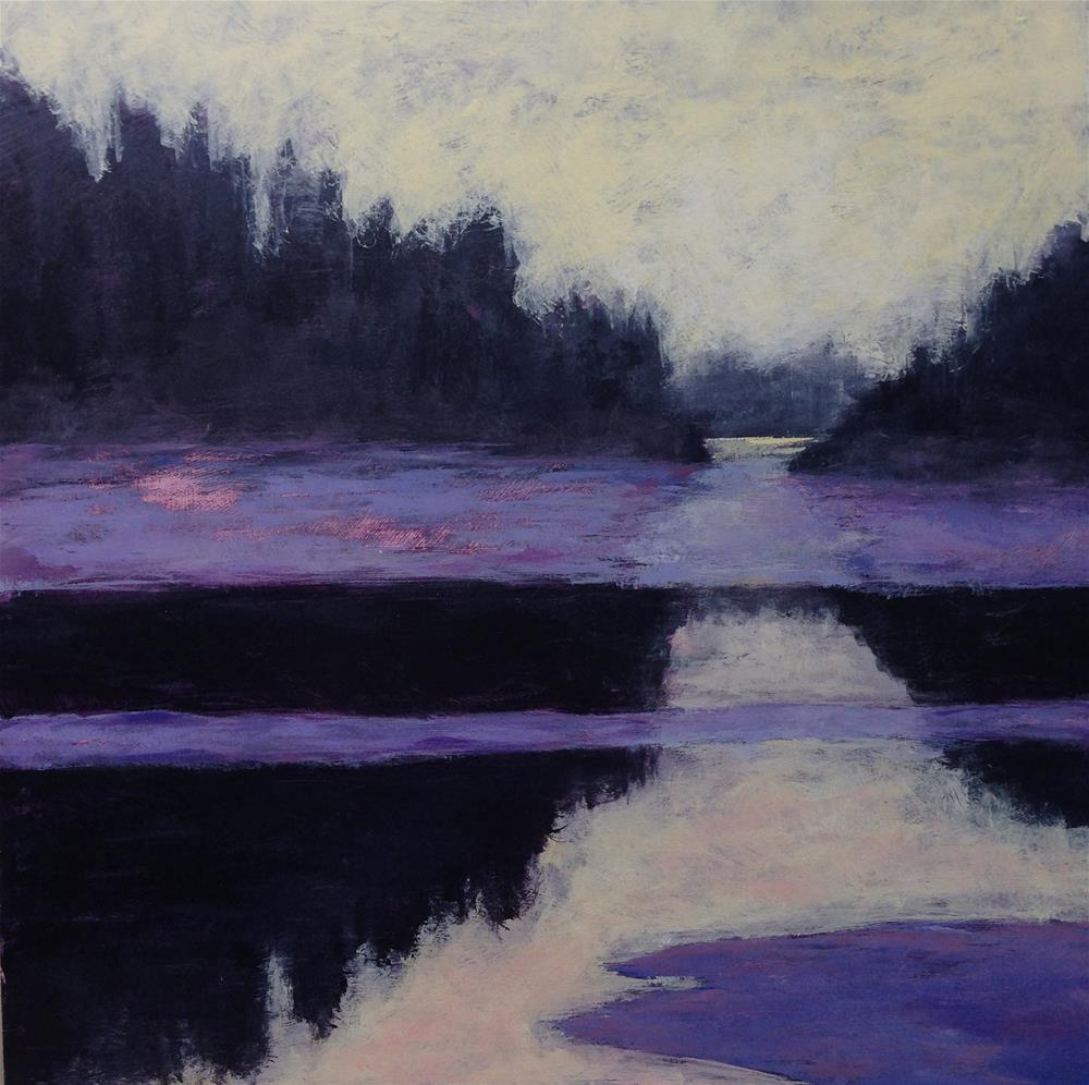 """Yellow Dawn, or is it Dusk? 20x20"" original fine art by Eileen Hennemann"