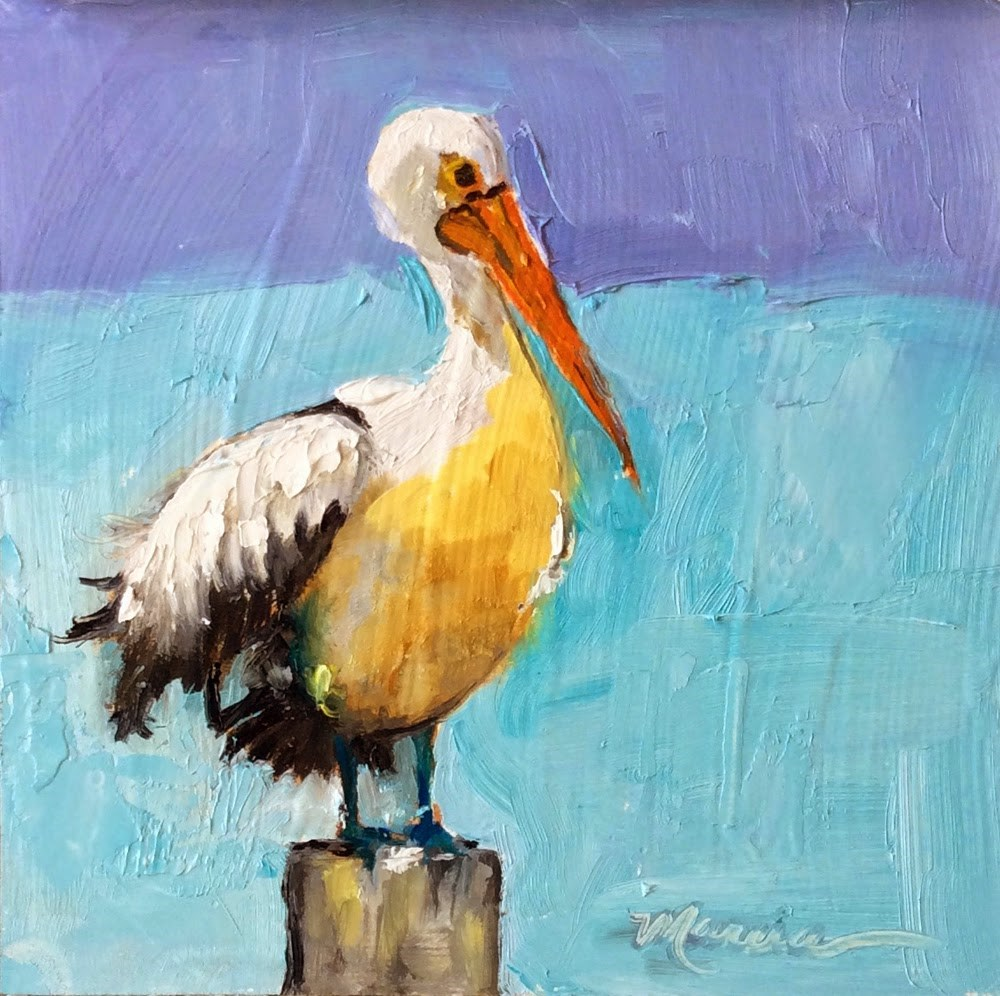 """""""Sittin' on the Dock of the Bay"""" original fine art by Marcia Hodges"""