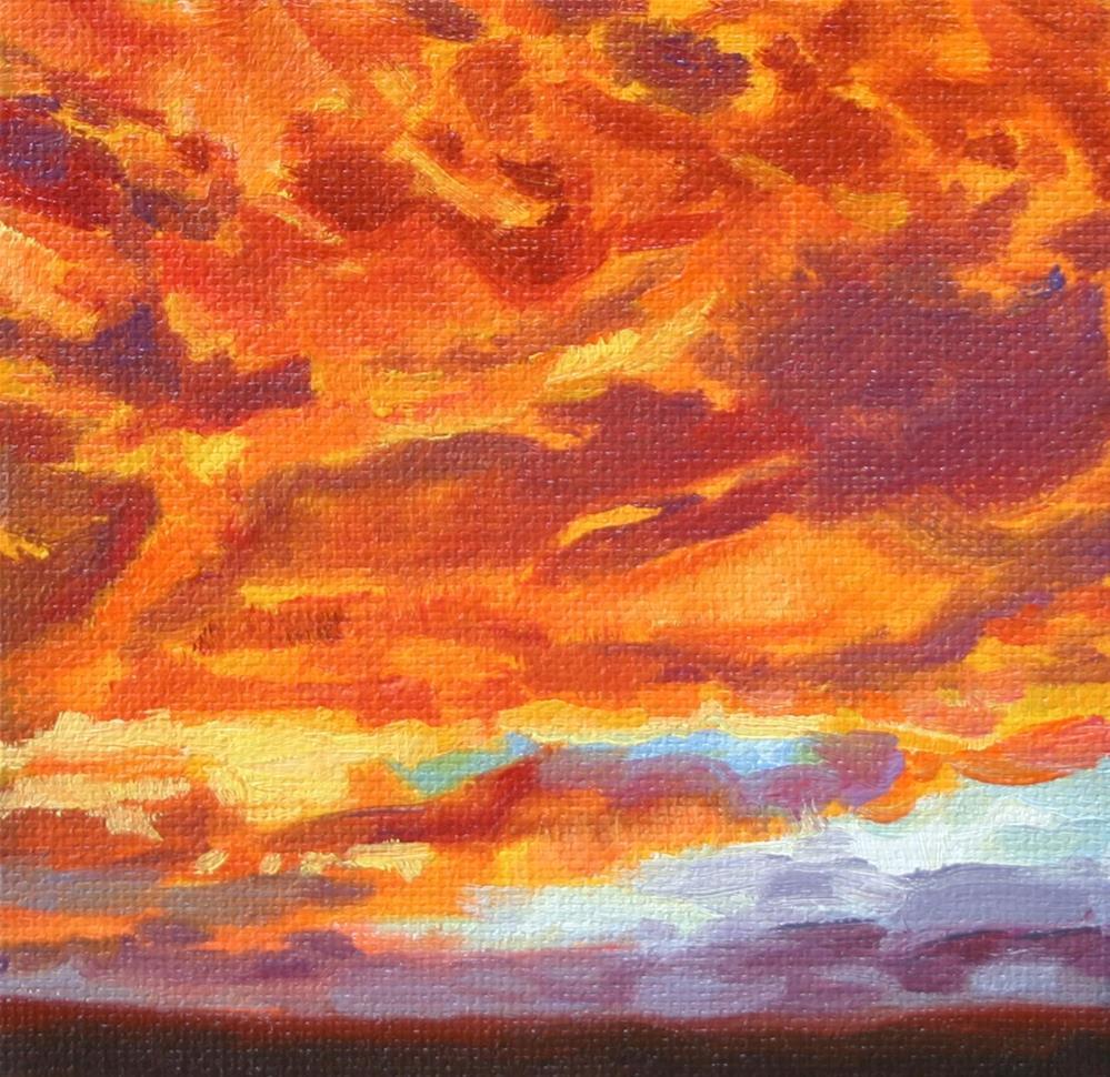 """""""Fiery Skies"""" original fine art by K.R. McCain"""