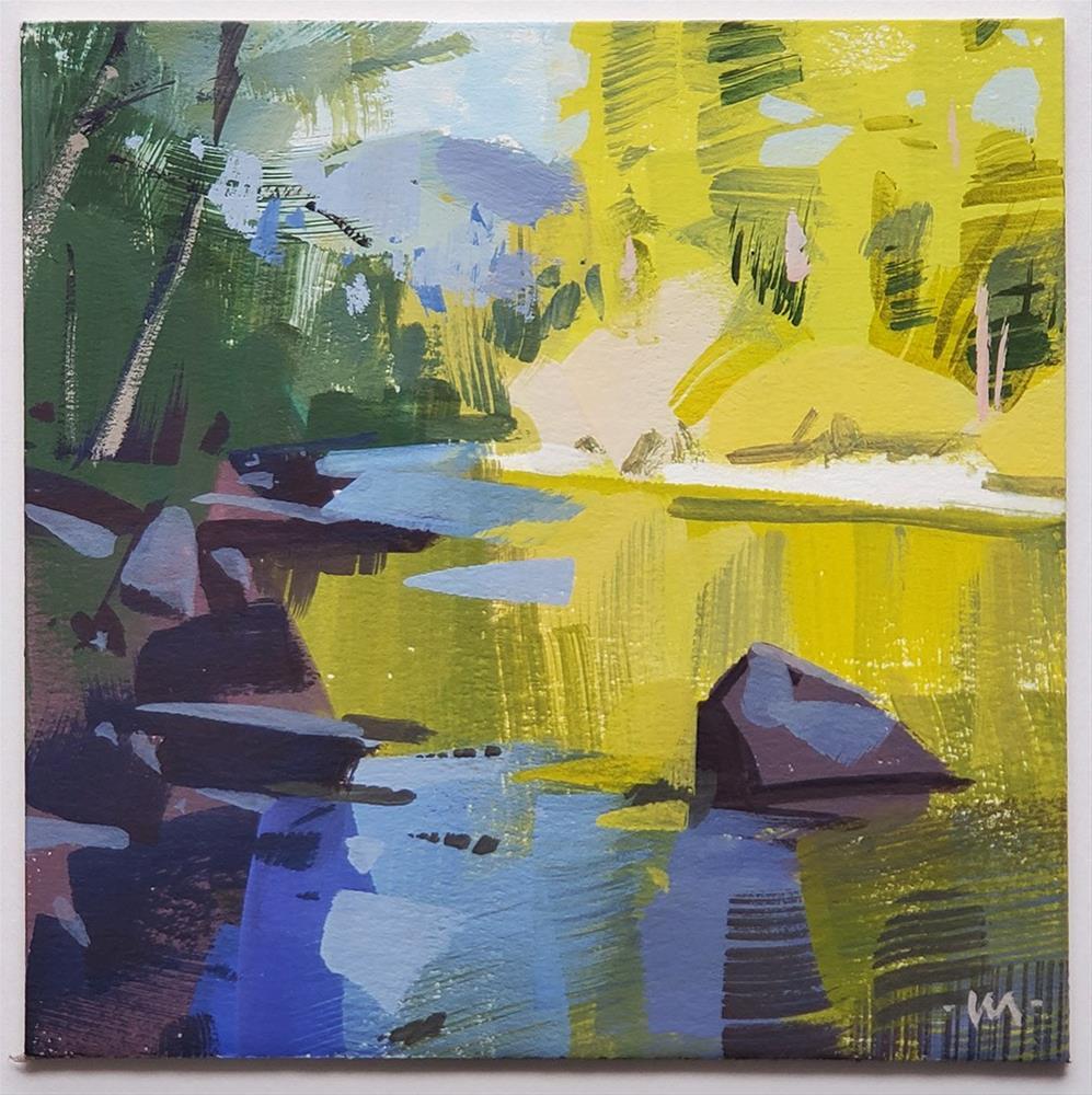 """Reflected Green"" original fine art by Carol Marine"