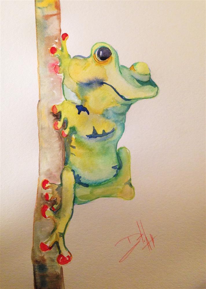 """Tree Frog"" original fine art by Delilah Smith"