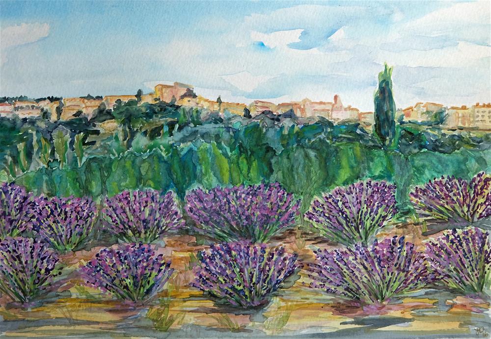 """Lavender Kingdom"" original fine art by Laura Denning"