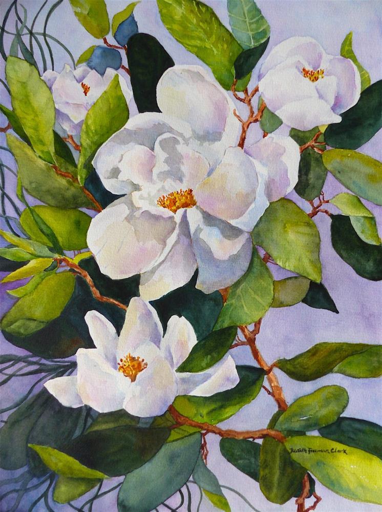 """Evening Magnolia"" original fine art by Judith Freeman Clark"