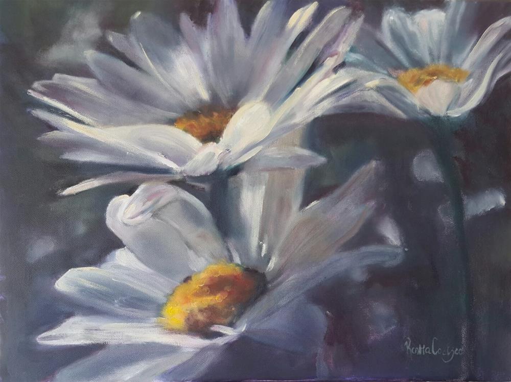 """""""Oops a daisies"""" original fine art by Rentia Coetzee"""