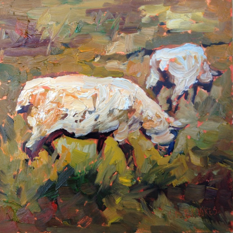 """""""In the Rough III, Day 4"""" original fine art by Claudia L Brookes"""