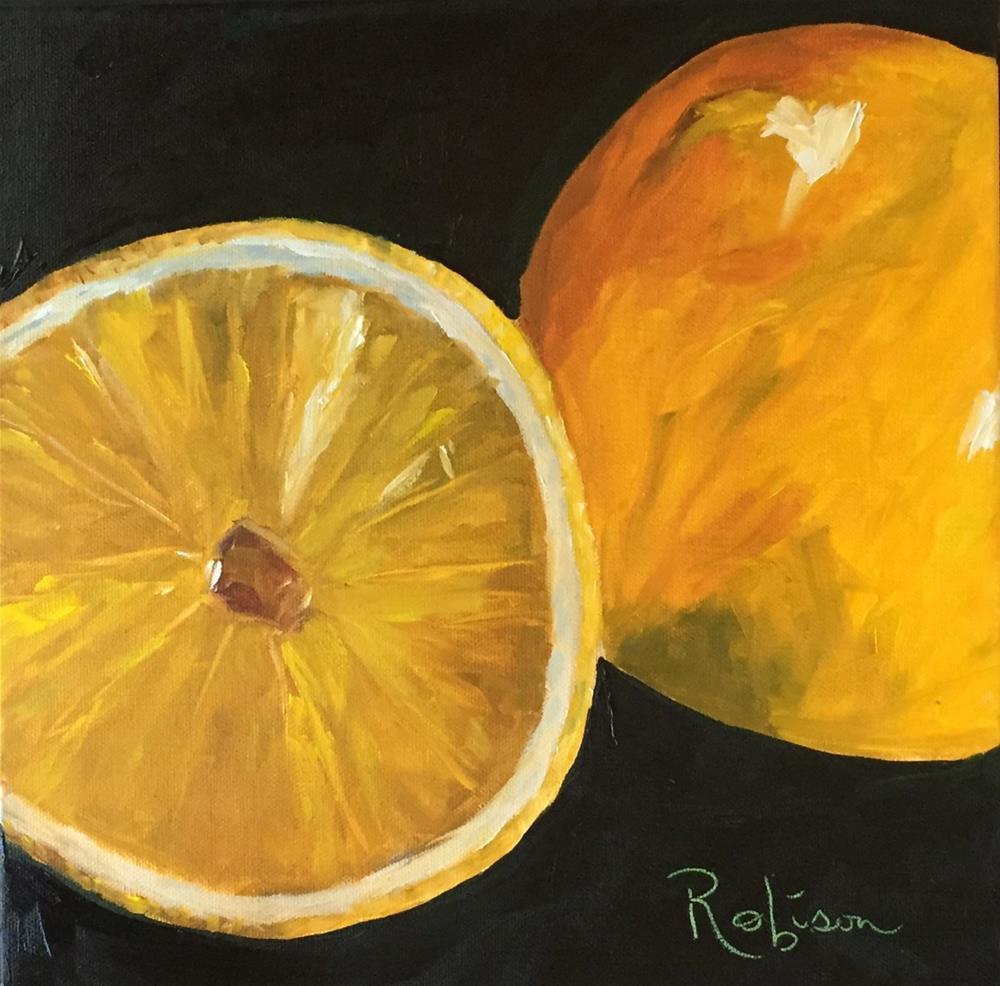 """Lemon Drop Martini?"" original fine art by Renee Robison"