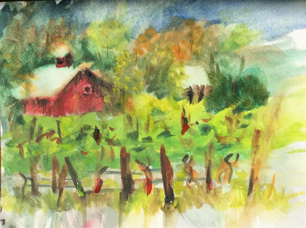 """Saginaw Vineyard"" original fine art by Molly Rohrscheib Hathaway"
