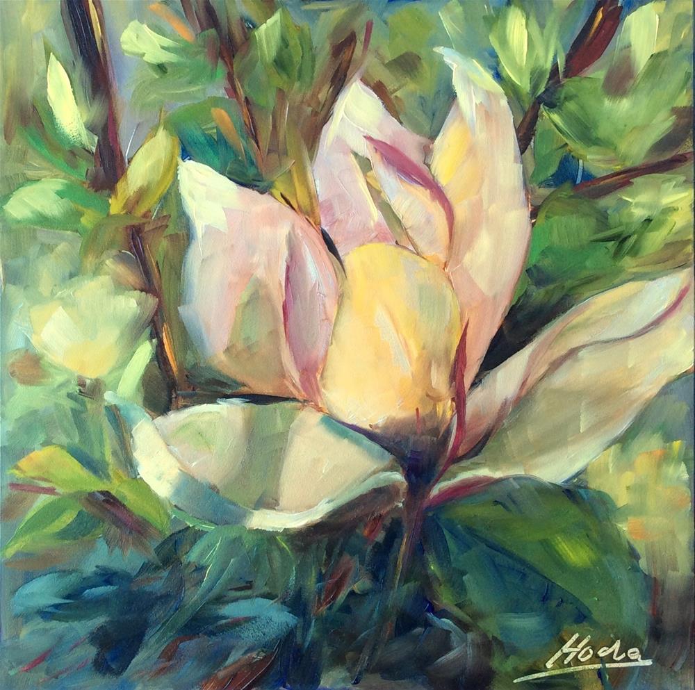 """Magnolia 4"" original fine art by Hoda Nicholas"
