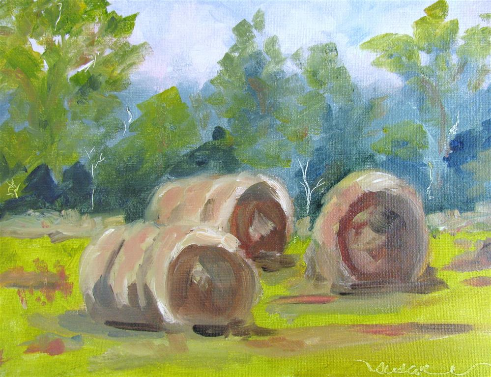 """""""Hay Y'all"""" original fine art by Susan Elizabeth Jones"""