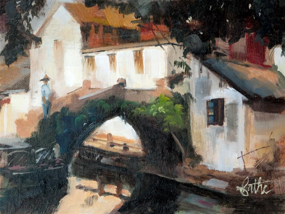 """Early Morning in Zouzhaung"" original fine art by Beth Bathe"
