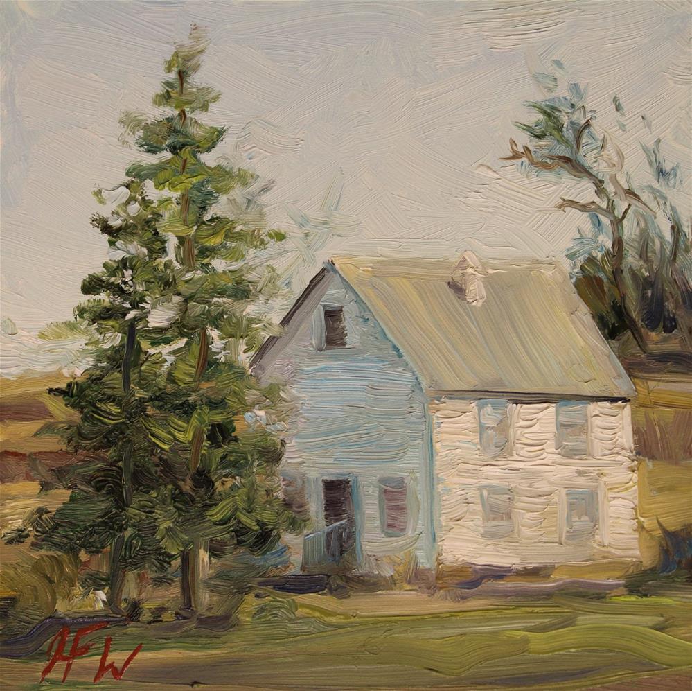 """""""Solitary little house"""" original fine art by H.F. Wallen"""