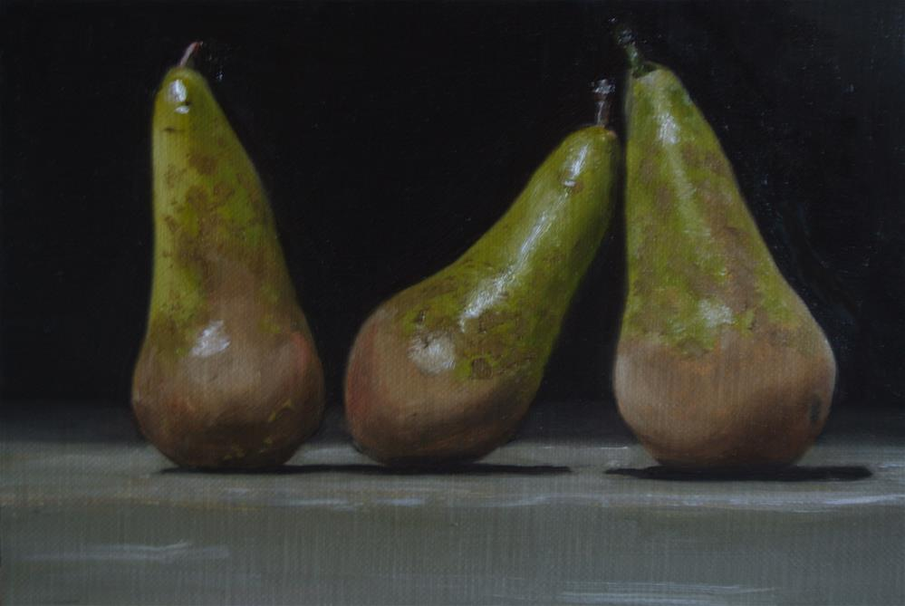 """""""Conference Pears"""" original fine art by James Coates"""