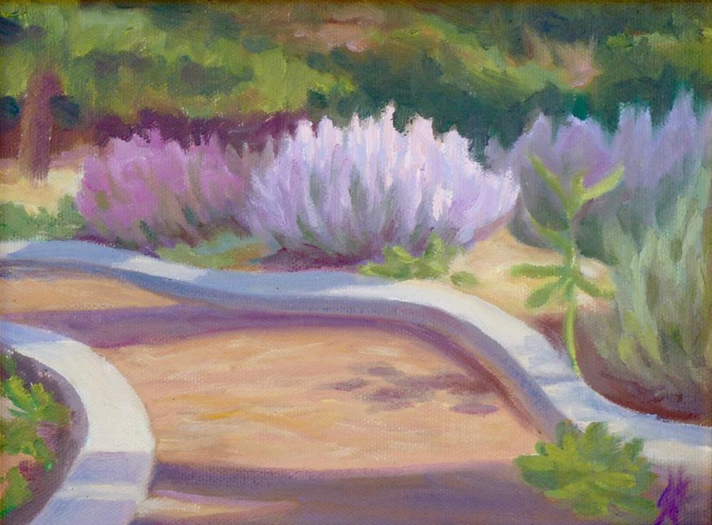 """""""Garden Path"""" original fine art by Mark Allison"""