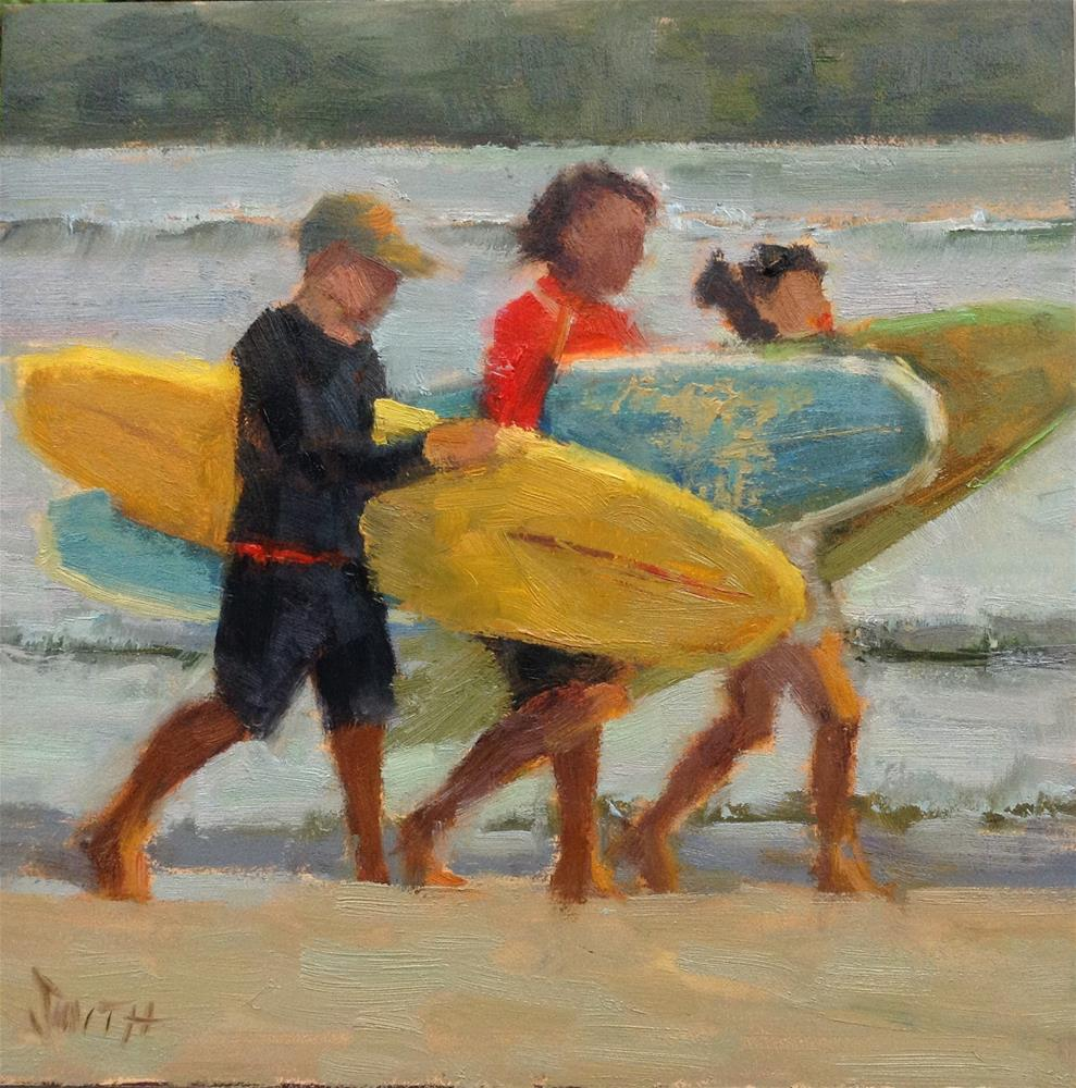"""Sand and Surf"" original fine art by Barbie Smith"