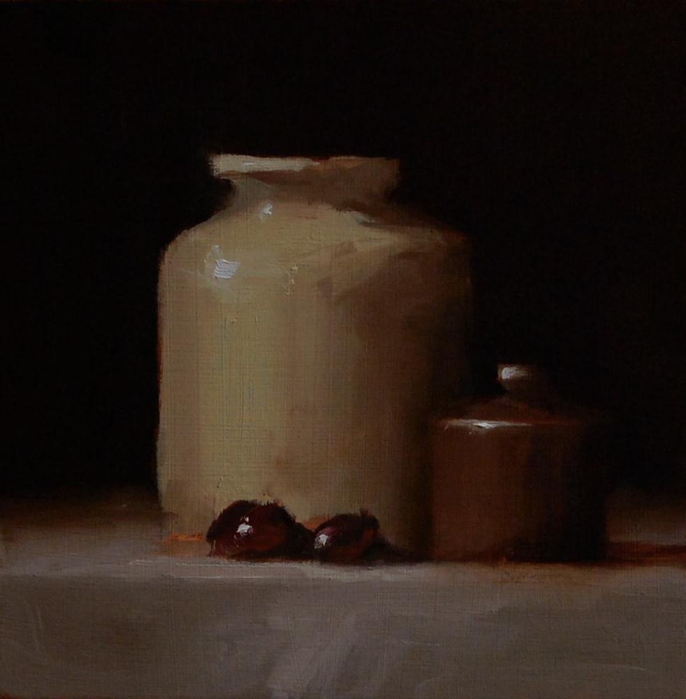 """""""Two Pots"""" original fine art by Neil Carroll"""