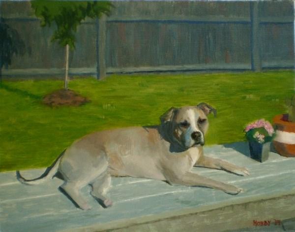 """""""Lola"""" original fine art by Weston Hobdy"""
