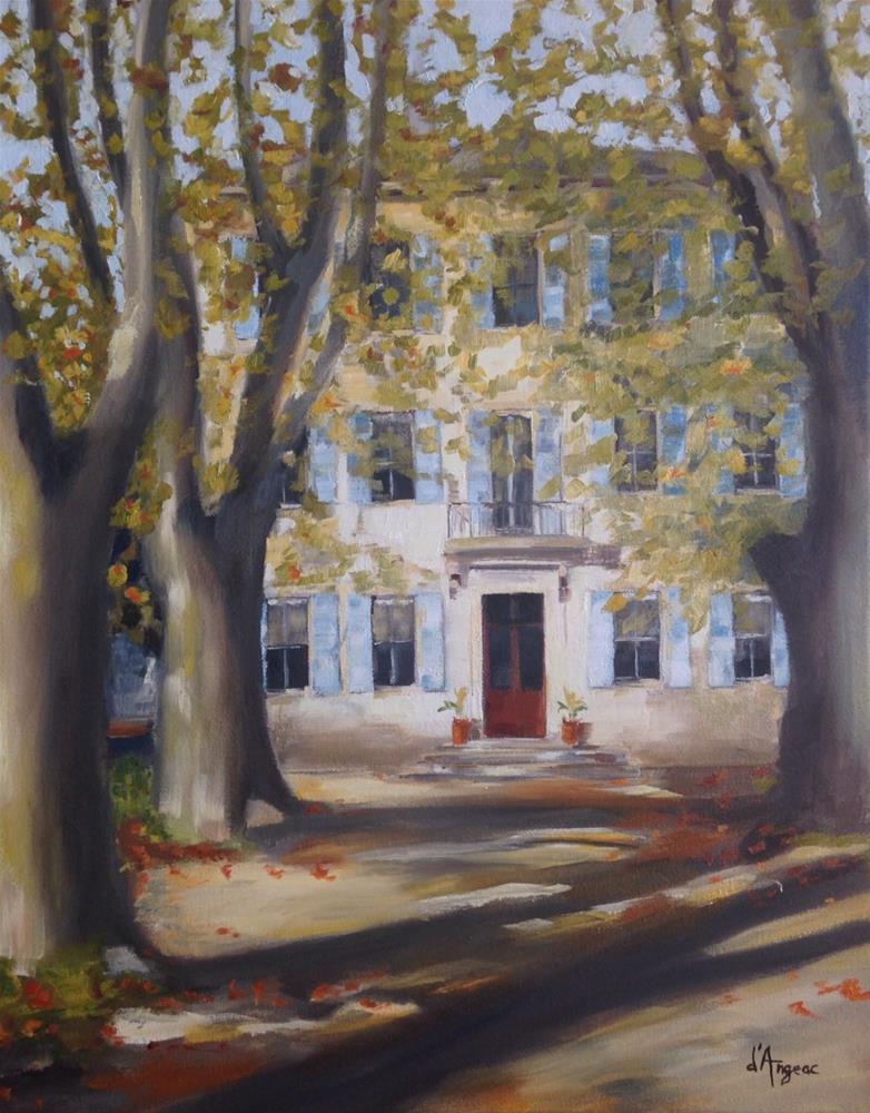 """""""Chateau des Alpilles in St. Remy"""" original fine art by Karen D'angeac Mihm"""