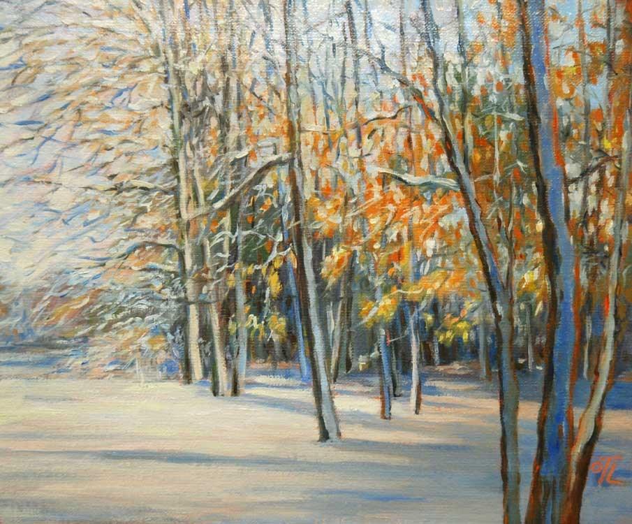 """""""DCS # 9 Snowy forest"""" original fine art by Olga Touboltseva-Lefort"""